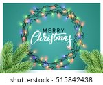 christmas background with... | Shutterstock .eps vector #515842438