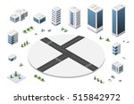 a large set of isometric urban... | Shutterstock .eps vector #515842972