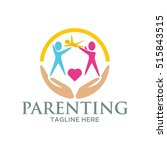parenting  family concept logo... | Shutterstock .eps vector #515843515