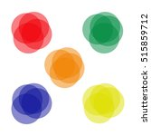 banners  icons. circular... | Shutterstock .eps vector #515859712