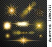 transparent glow light effect.... | Shutterstock .eps vector #515860816