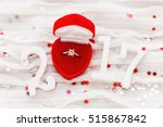 new year 2017 on white fabric... | Shutterstock . vector #515867842