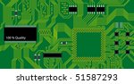 green circuit board vector... | Shutterstock .eps vector #51587293