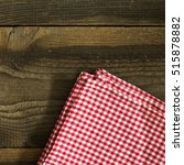 checkered tablecloth on the... | Shutterstock . vector #515878882