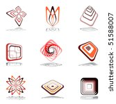 design elements in warm colors. ... | Shutterstock .eps vector #51588007