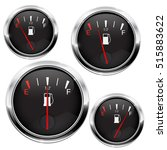 Fuel Gauge. Black Round...