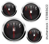 fuel gauge. black round... | Shutterstock .eps vector #515883622