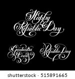 happy republic day handwritten... | Shutterstock .eps vector #515891665