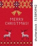 vector illustration of knitted... | Shutterstock .eps vector #515893942