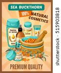 poster sea buckthorn and... | Shutterstock .eps vector #515903818