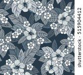 autumn floral seamless pattern... | Shutterstock .eps vector #515904412