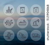 petroleum industry line icons... | Shutterstock .eps vector #515904868