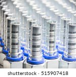 metal hydraulic fittings stands ... | Shutterstock . vector #515907418