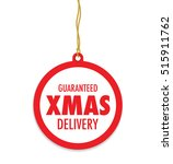 christmas delivery tag label | Shutterstock .eps vector #515911762