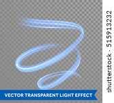 neon blue swirl spiral light... | Shutterstock .eps vector #515913232