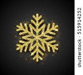 Sparkling Golden Snowflake Wit...