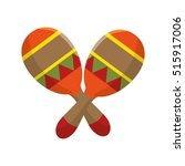 mexican maraca instrument icon | Shutterstock .eps vector #515917006