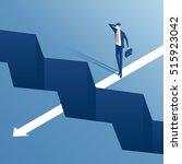 businessman standing on the... | Shutterstock .eps vector #515923042