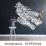 Modern Brick Wall And Vase ...