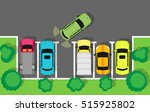city parking vector web banner. ... | Shutterstock .eps vector #515925802