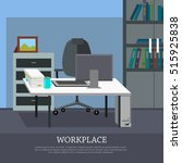 workplace conceptual vector web ... | Shutterstock .eps vector #515925838
