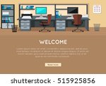 welcome vector concept. flat... | Shutterstock .eps vector #515925856
