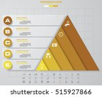 5 steps pyramid with free space ... | Shutterstock .eps vector #515927866