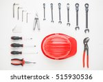 knolling concept of work tools...   Shutterstock . vector #515930536