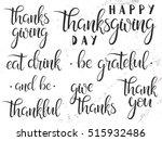 thanksgiving typography. happy... | Shutterstock .eps vector #515932486