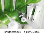 cosmetic bottle containers with ... | Shutterstock . vector #515932558