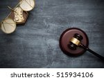 gavel and scale top view. law... | Shutterstock . vector #515934106