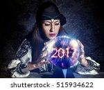 gypsy fortune teller forecast... | Shutterstock . vector #515934622