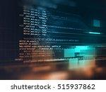 programming code abstract... | Shutterstock . vector #515937862