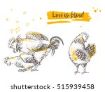 Mating Of A Rooster And Hen....