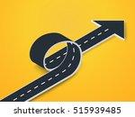road loop with arrow isometric... | Shutterstock .eps vector #515939485