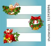 christmas banner with copy... | Shutterstock .eps vector #515939896