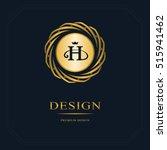 gold emblem of the weaving... | Shutterstock .eps vector #515941462