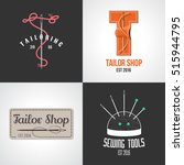 set of tailor  atelier vector... | Shutterstock .eps vector #515944795