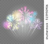 fireworks  salute on a... | Shutterstock .eps vector #515950906