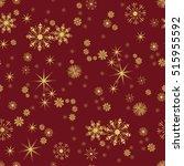 vector seamless winter pattern... | Shutterstock .eps vector #515955592