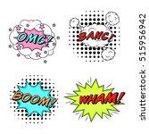 comics style vector stickers...   Shutterstock .eps vector #515956942