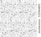 seamless pattern hand drawn... | Shutterstock .eps vector #515964892