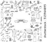 hand drawn doodle handmade... | Shutterstock .eps vector #515964895