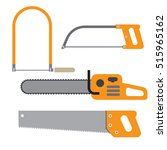 hand saw set of carpentry tools ... | Shutterstock .eps vector #515965162