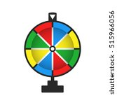 wheel of fortune  icon. vector... | Shutterstock .eps vector #515966056