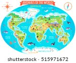 animals of the world . flat... | Shutterstock . vector #515971672