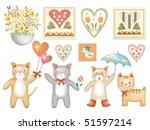 animal set cat | Shutterstock . vector #51597214