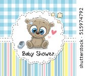 baby shower greeting card with... | Shutterstock .eps vector #515974792