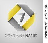 number seven vector logo symbol ... | Shutterstock .eps vector #515975308