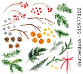 christmas ornaments from the... | Shutterstock . vector #515977102